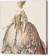 Ladys Gown For The Royal Court Canvas Print