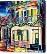 Lafitte Guest House At Christmas Canvas Print