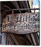 Lafittes Blacksmith Shop Sign Canvas Print