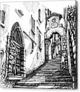 Lago Di Como-bellano Canvas Print