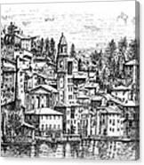 Lago Di Como-brienno Canvas Print