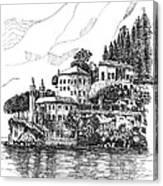 Lago Di Como-lenno - Vila Del Bilbianello Canvas Print
