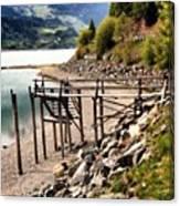Lago Di #resia #altoadige Canvas Print