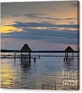 Lagoon At Sunset Canvas Print