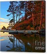 Lagoon Sunrise 1 Canvas Print