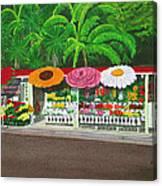 Laguna Beach Flower Stand Canvas Print