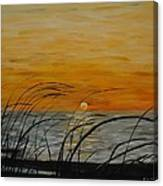 Laguna Madre Sunset Canvas Print