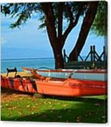 Lahina Maui Canoe Club Canvas Print