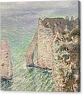 Laiguille And The Porte Daval   Etretat Canvas Print