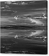 Lake Abert 4 Black And White Canvas Print