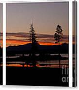 Lake Almanor Sunset Triptych Canvas Print