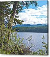 Lake Alva From National Forest Campground Site-yt Canvas Print