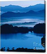 Lake And Moor In Mist Canvas Print