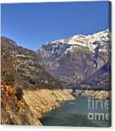 Lake And Snow-capped Mountain Canvas Print