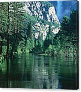 Lake And Trees, California Canvas Print