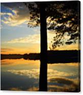 Lake At Sunrise Canvas Print