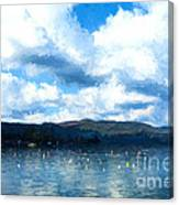 Lake Background Canvas Print
