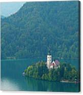 Lake Bled Island Canvas Print