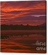 Lake Cassidy Draatic Sunrise Canvas Print