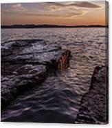 Lake Champlain Sunset Burlington Vermont Oakledge Park Canvas Print
