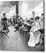 Lake Constance Steamer Passengers, 1890s Canvas Print