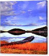 Lake Dock Canvas Print