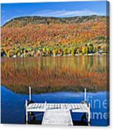 Lake Elmore Autumn Canvas Print