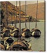 Lake Er Hai Boats Canvas Print