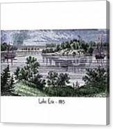 Lake Erie - 1815 Canvas Print