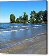 Lake Erie At Sheldon Marsh 2 Canvas Print