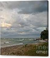 Lake Erie Shore Line II Canvas Print