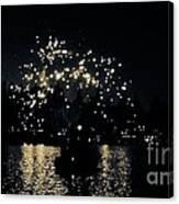 Lake Fireworks Canvas Print