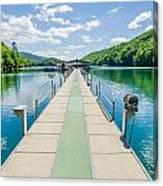 Lake Fontana Boats And Ramp In Great Smoky Mountains Nc Canvas Print