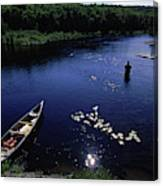 Lake Guiding Sports Fishing Canvas Print