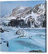 Lake Haiyaha Winter Canvas Print
