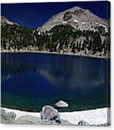 Lake Helen At Mt Lassen Triptych Canvas Print