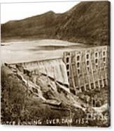 Lake Hodges And Dam San Diego County California  1952 Canvas Print