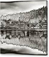 Lake House Reflection Canvas Print
