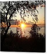 Lake Huron Setting Sun Canvas Print