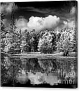 Lake In Black And White One Canvas Print