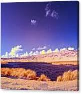 Lake In Rano Raraku Crater Canvas Print