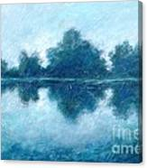 Lake In The Morning Canvas Print