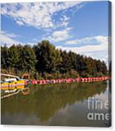 Lake Inlet With Dredger Canvas Print