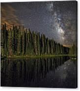 Lake Irene's Milky Way Mirror Canvas Print