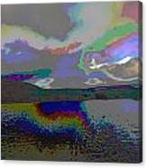 Lake Land And Sky Digitally Painted Photograph Taken Around Poconos  Welcome To The Pocono Mountains Canvas Print