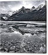 Lake Louise - Black And White #2 Canvas Print