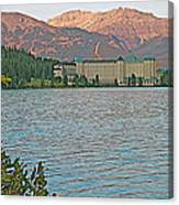 Lake Louise Chateau At Sunset In Banff Np-alberta Canvas Print