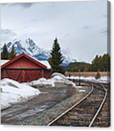 Lake Louise Depot Canvas Print