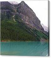 Panoramic Lake Louise, Alberta - Morning Reflections Canvas Print