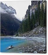 Lake Louise North Shore - Canada Rockies Canvas Print